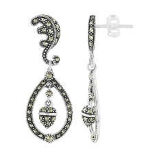 Marcasite Silver Earrings $39