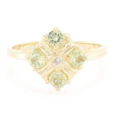 10K Amblygonite Gold Ring $109