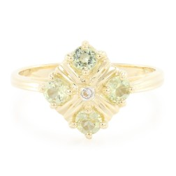 10K Amblygonite Gold Ring $109